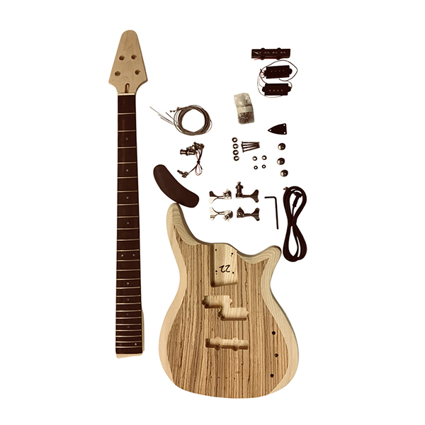 gd905z 4 string bass with 2 part ash wood body with zebrawood veneer top luthier diy kit uk. Black Bedroom Furniture Sets. Home Design Ideas