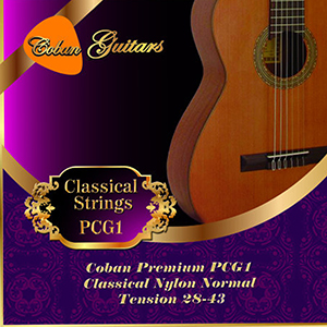 Coban Guitars Premium PCG1 Classical Nylon Normal Tension 28-43 Strings.