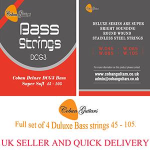Coban Guitars Bass Strings Deluxe DCG3 Bass super soft.