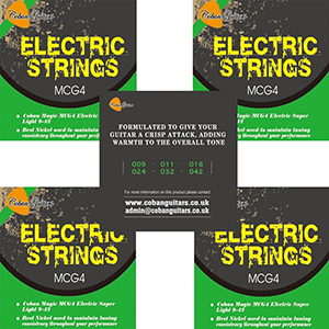 Coban Guitars MCG4 Electric Strings x 5 Packets
