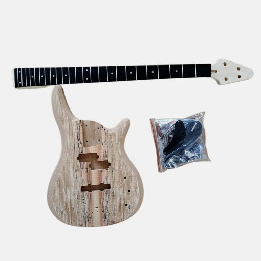 Electric Bass Guitar DIY Kit Coban Guitars BASS901 Bass Guitar Kit Ash Body Spalted Maple Chrome Fittings