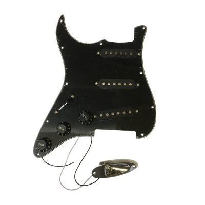 Durable 3 Ply SSH Anti-scratch Plate Pickguard for ST Electric Guitar Black
