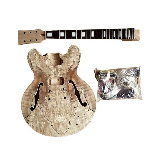Electric Guitar DIY Kit ES260 Spalted Maple Gold Hardware