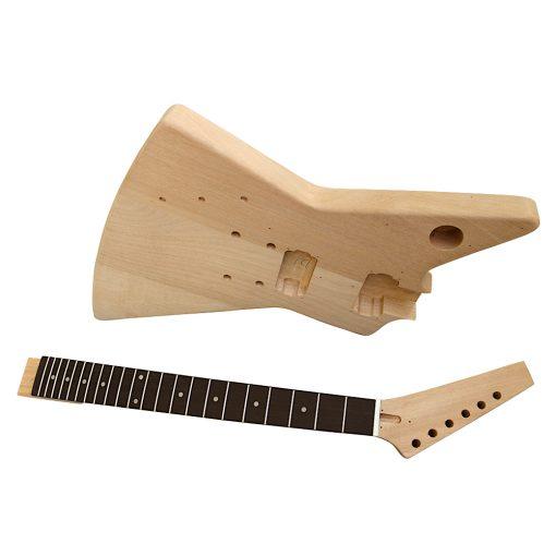 Electric Guitar DIY Left Handed Kit EXPLB Black Fittings