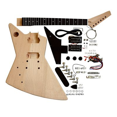 Electric Guitar DIY Left Handed Kit EXPLB Black Fittings