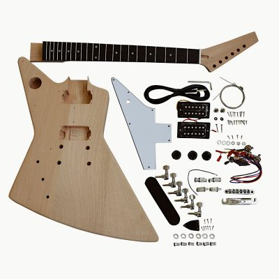 Electric Guitar DIY Left Handed Kit EXPLW White Fittings