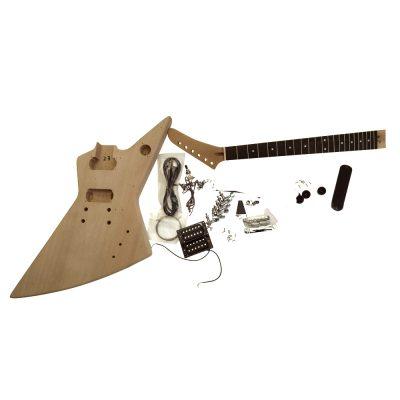 Electric Guitar DIY Kit EXP1W Chrome Hardware White Fittings