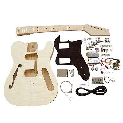 Electric Guitars DIY Kit TLFFB Semi Hollow Flamed Maple