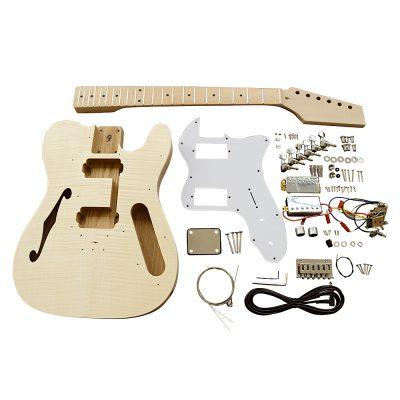 Electric Guitars DIY Kit TLFFW Semi Hollow Flamed Maple