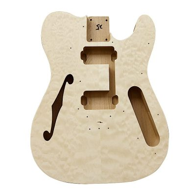 Electric Guitars DIY Kit TLQW Semi Hollow Quilted Maple
