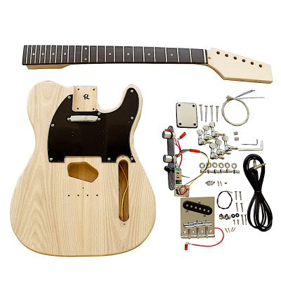 Electric Guitars DIY Kit TL6B Ash Body with Black Pickguard