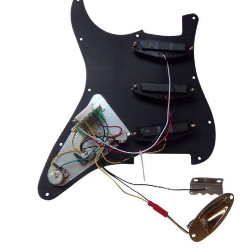 Electric Guitar DIY Kit ST40 Ash Body Flamed Veneer Gold Fittings Non Soldering