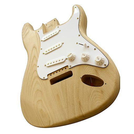 Electric Guitars DIY Kit ST4W Ash Body White Pickguard