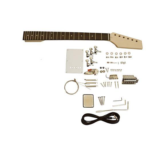 Electric Guitars Pre Painted DIY Kit STVP Ash Body Vintage Pink White Pickguard