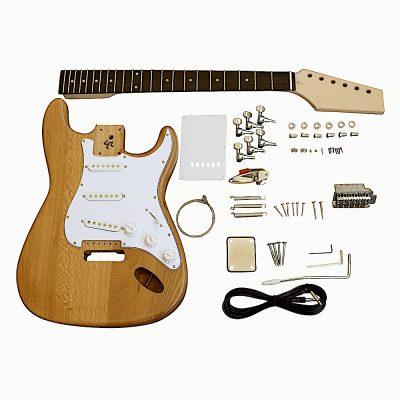 Electric Guitars Pre Painted DIY Kit STNM Natural Matt Nitro White Pickguard