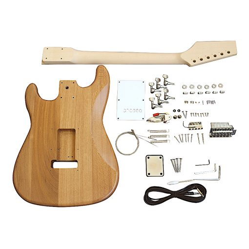 Electric Guitars Pre Painted DIY Kit STNM Natural Matt Nitro White Pickguard