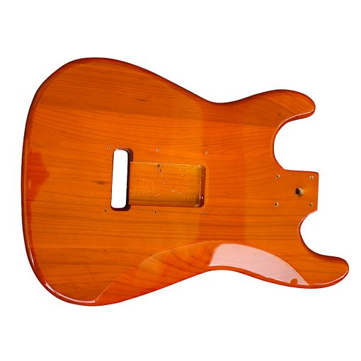 Electric Guitars Pre Painted DIY Kit STOQ Ash Body Burnt Orange White Pickguard