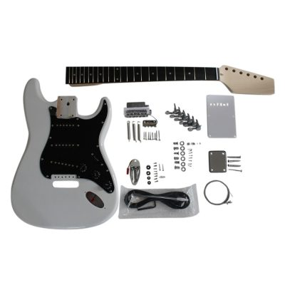 Electric Guitars DIY Kit ST4401 White Pre Painted Coban Guitars Right Handed Non Soldering