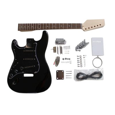 Electric Guitars DIY Kit ST4444 Black Pre Painted Coban Guitars Left Handed Non Soldering