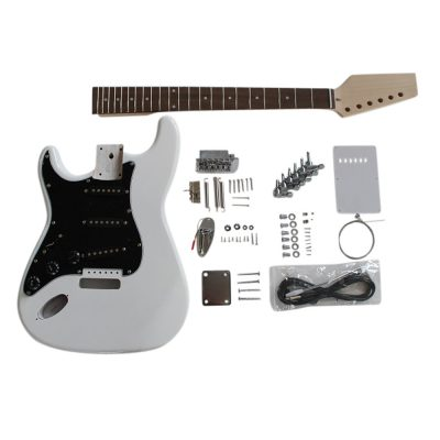 Electric Guitars DIY Kit ST4444 White Pre Painted Coban Guitars Left Handed Non Soldering