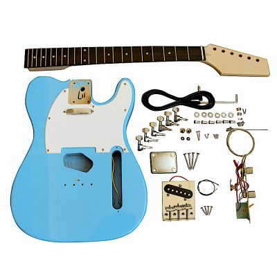 Electric Guitars Pre painted DIY Kit TLDB Daphne Blue with White Pickguard