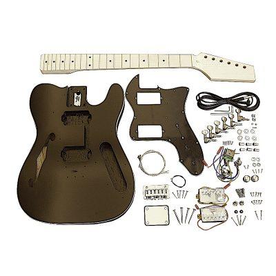 Electric Guitars Pre Painted Matt Black Semi Hollow DIY BYO Kit TLBF