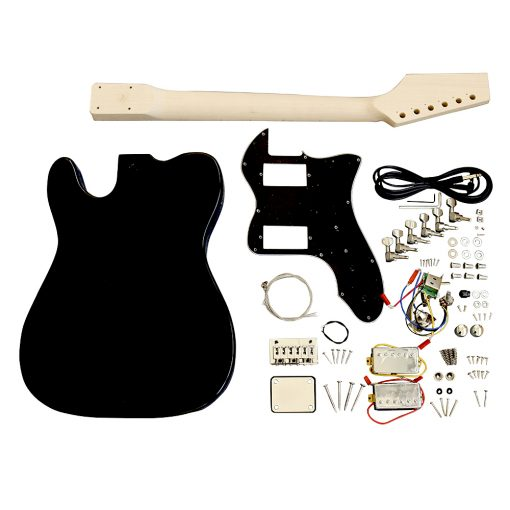 Electric Guitars Pre Painted Matt Black Semi Hollow DIY BYO Kit TLBF