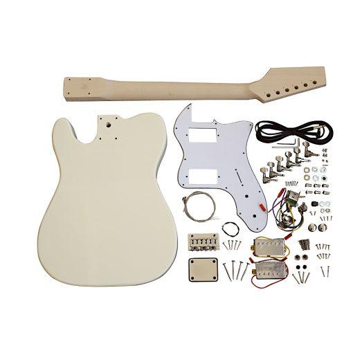 Electric Guitars Pre Painted Cream Semi Hollow DIY Kit TLCF White Pickguard