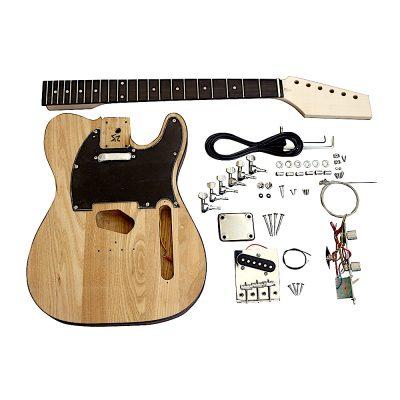 Electric Guitars Pre Painted DIY Kit TLNM Natural Matt Nitro Black Pickguard