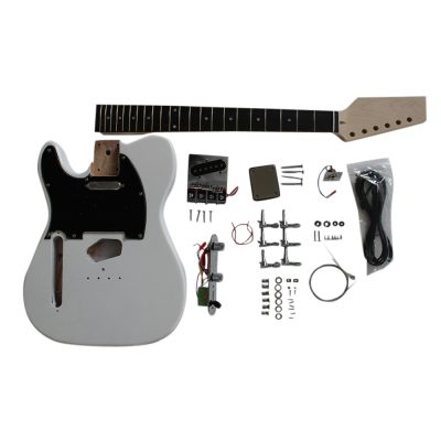 Electric Guitars Diy Kit TL6666 White Pre Painted Coban Guitars Left Handed Non Soldering