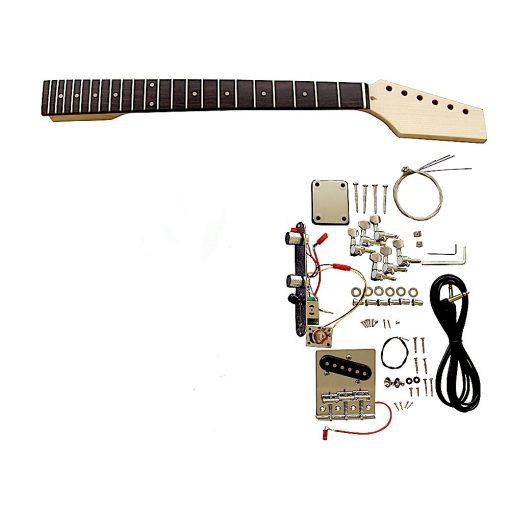 Electric Guitars DIY Kit TL6ZZ Ash Body Zebra Wood Veneer