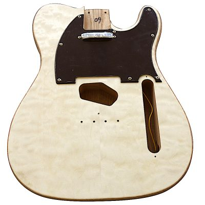 Electric Guitars DIY Kit TL65B Ash Body Quilted Veneer