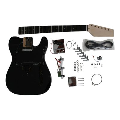 Electric Guitars Diy Kit TL6666 Black Pre Painted Coban Guitars Left Handed** Non Soldering