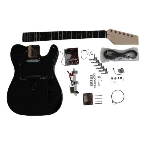 Electric Guitars Diy Kit TL6666 Black Pre Painted Coban Guitars Left Handed** Non Soldering