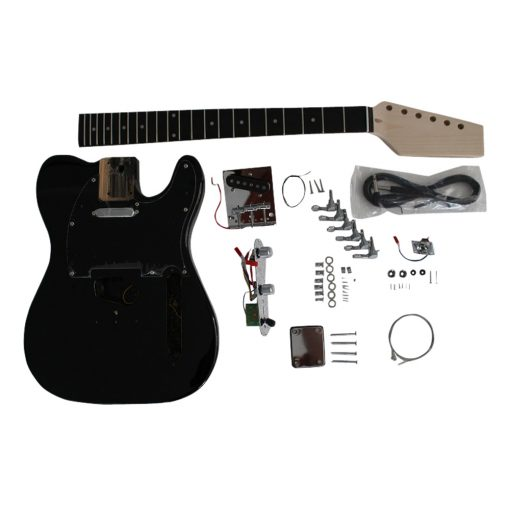 Electric Guitars DIY Kit TL6603 Black Pre Painted Coban Guitars Right Handed Non Soldering