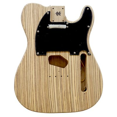 Electric Guitars DIY Kit TL6ZZ Ash Body Zebra Wood Veneer