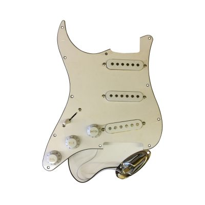 Durable 3 Ply SSH Anti-scratch Plate Pickguard for ST Electric Guitar White