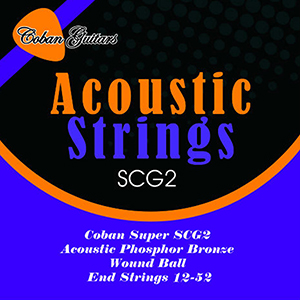 Coban Guitars SCG2 Acoustic PHOSPHORUS BRONZE x 5 Packets