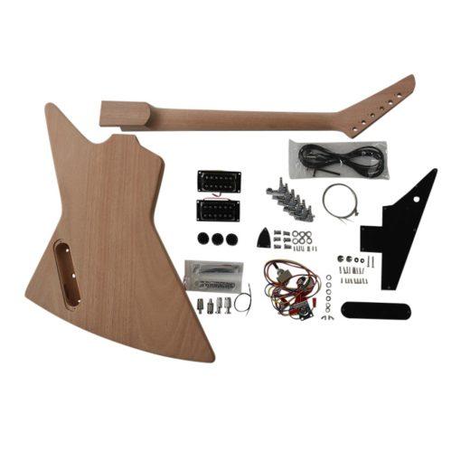 Electric Guitar DIY Kit EXP1B Chrome Hardware Black Fittings