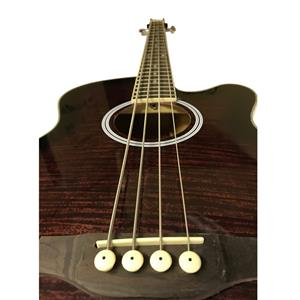 Coban Electro Luxury Gloss Purple Burst Acoustic Bass 4eq Guitar BLEMISH ON THE FRONT inc Picks, lead and Strap