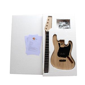 Electric Bass Guitar DIY Kit 1WM4 DJazz Bass 4 STRING Kits NO SOLDERING REQUIRED.