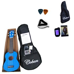 Coban Dark Blue Ukulele Complete package