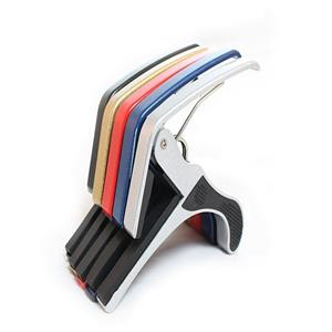 Adjustable Electric, Acoustic Guitar Capos in 5 colours.